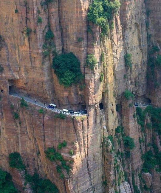 n guoliang tunnel in taihang mountains china