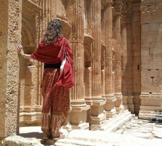 n The Bacchus Temple at Baalbek, Lebanon.