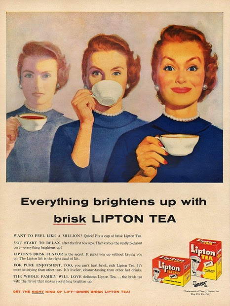 Image result for tea 1950s