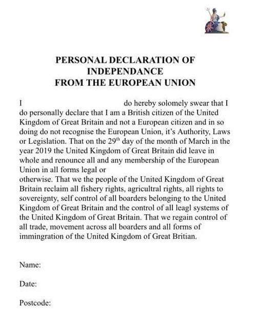 brexit form
