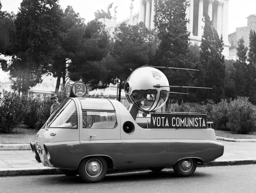 Auto Float With Model Of Soviet Sputnik