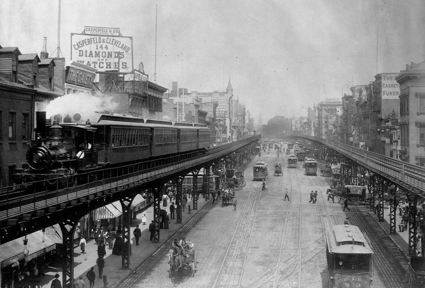 Elevated Trains in Manhattan's Bowery