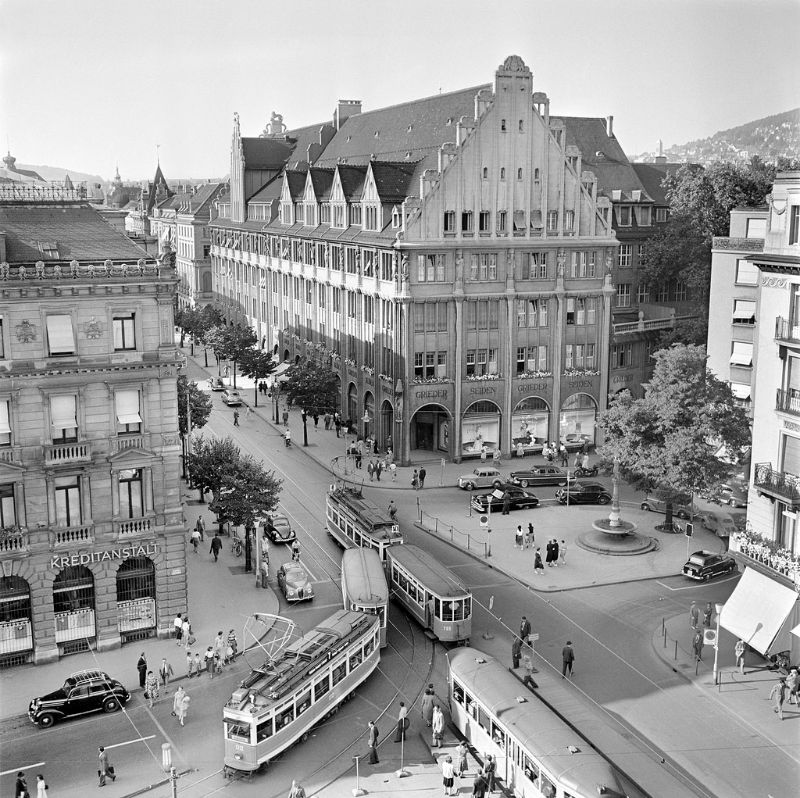 Image result for zurich town centre 1950