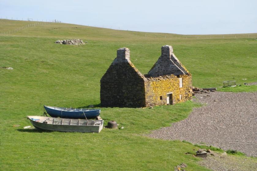 Old Haaf Fishing station shetland